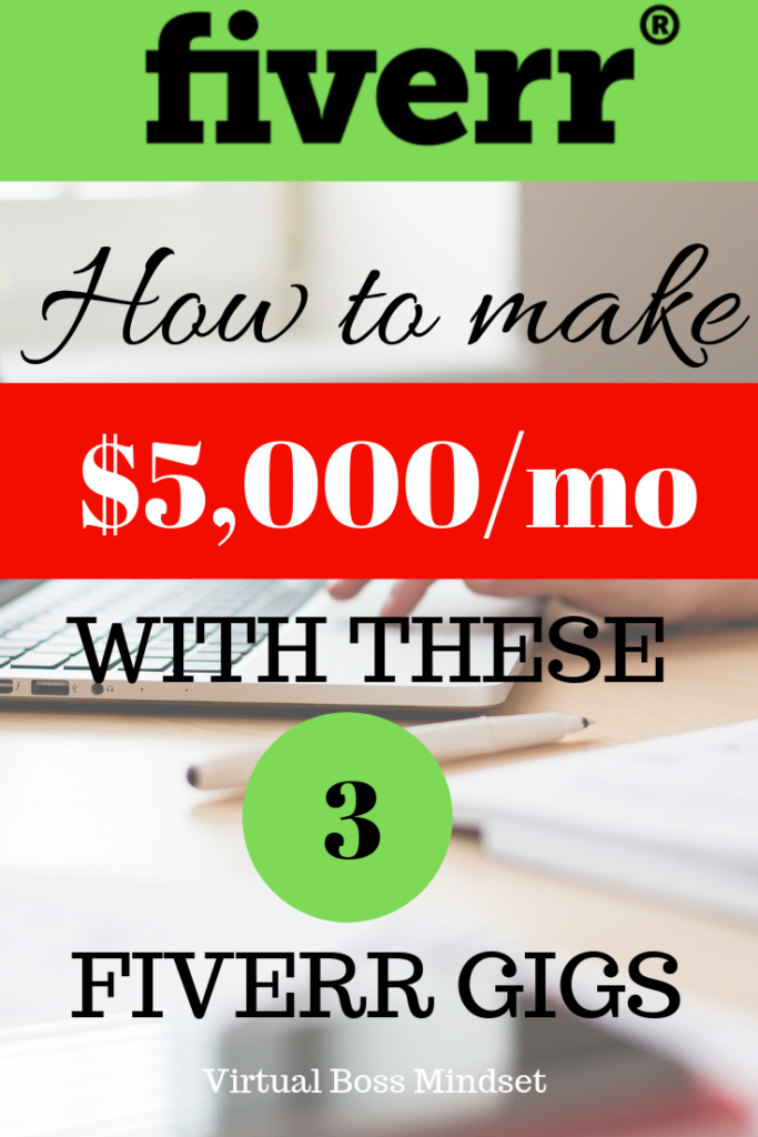 How to make money on Fiverr with these 3 Fiverr Gigs www.virtualbossmindset