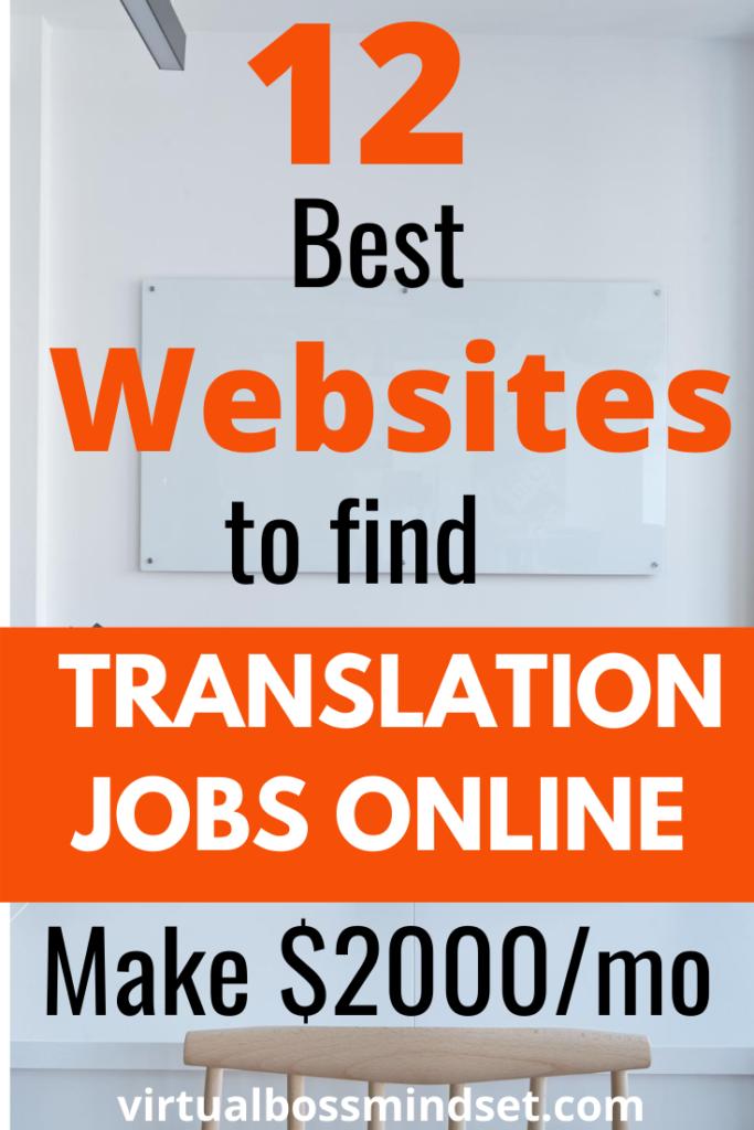 12 BEST PLACES FOR TRANSLATION JOBS ONLINE