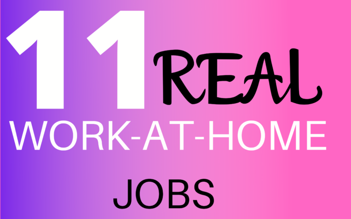 11 Work-From-Home Jobs