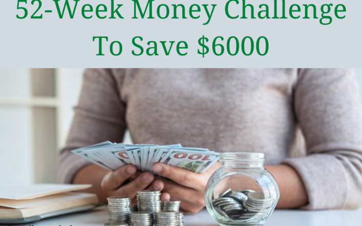 52-week money challenge to save $6000 in 2021